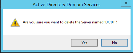 Step 13. How to Manually Demote, Remove, and Decommission a SBS Server