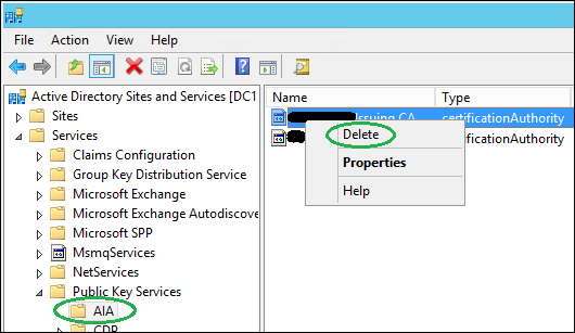 How to Manually Remove Certificate Authority