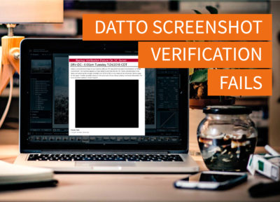 How to Fix Datto Screenshot Verification Fail